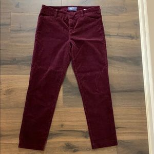 Old Navy velvet style cropped pants